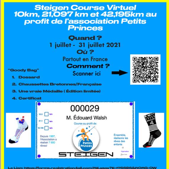Course Virtuelle au profit de l'Association Petits Princes
