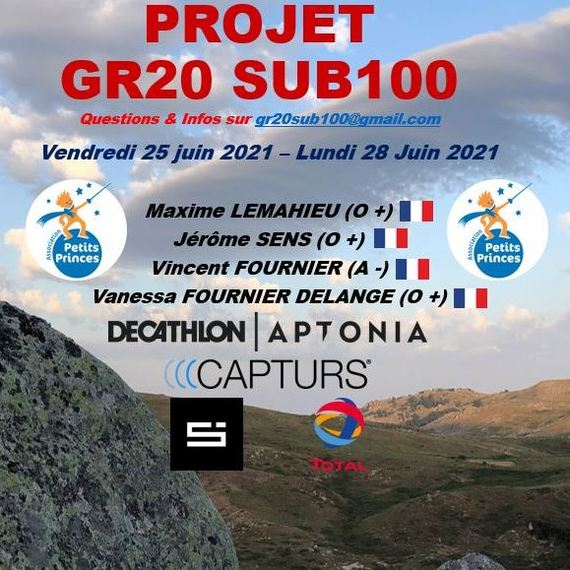 Projet GR20 Sub100